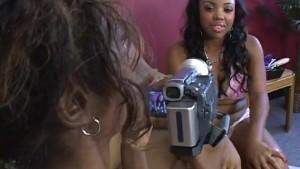 Fiesty Black Lesbians Enjoy Fucking Huge Toys