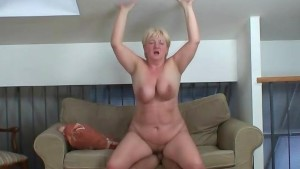 Huge titted grandma pleases a