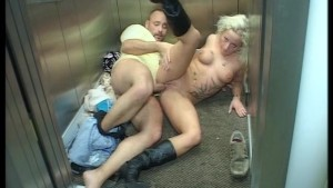 Love in an elevator livin it up as i'm going down (clip)