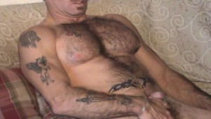 Tattoo Dick erection says 'want some'
