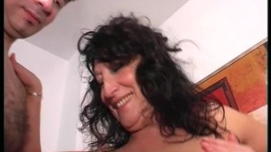 Horny MILF bangs younger man (