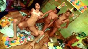 Kiki celebrating her 18th birt
