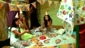 Kiki celebrating her 18th birthday with friends!