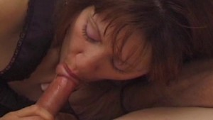 Hairy horny house wife sits on