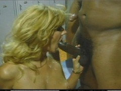 She gets her real workout in the locker room