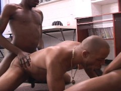 Two dicks in third guys mouth  (CLIP)