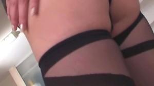 Pretty milf fucking in stockin