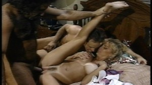 Ron Jeremy and a friend double team lucky lady (clip)