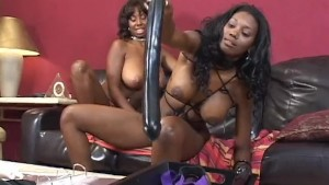 Black Sistas Fuck With Massive Dildos