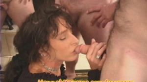 CUM EATING Milf sucks off BIKERS