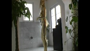 Slim Pornsar complete painted in golden color
