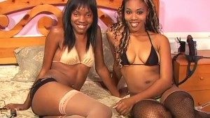 Two Fine Black Lesbians Fuck With Toys