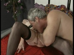 Picture Old couple enjoy screwing around with each o...