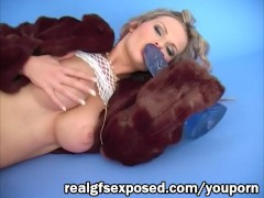 Tarra White Stuffed in blue