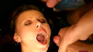 3 cocks and loads of cum pleas