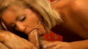 Slipping his cock down her thr