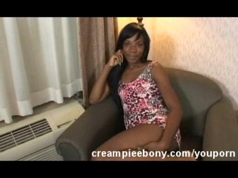 Pretty Ebony Creampied