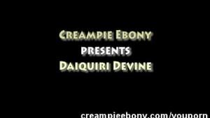 Amateur Ebony Filled with Creamy Cum