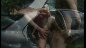 Hot young couple has sex on their car. (Clip)