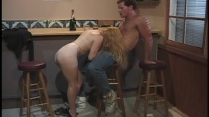 Dirty hot chick gets fucked at the bar