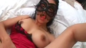 Leya hides face mask fucking c