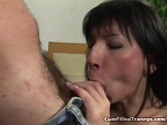 Tranny Anal Fucked And Creampied