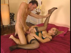 hot blonde gets her asshole fucked