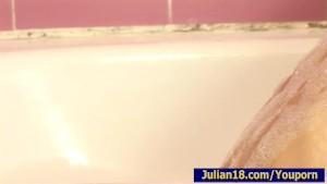 Julian 18 with BoyFriend In BathRoom
