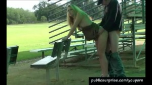 Blonde Hottie Fucked In Public