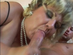 Picture Mature Socialite Loves Pearls and Peckers cl...