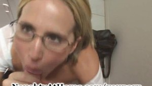 Wife In School Girl Outfit Sucking Cock