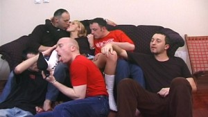 Skinny blonde gets pasted