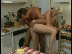 Dad fills hot mom's holes with all sorts of treats.