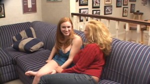 Two hot girls get fucked by the pool table