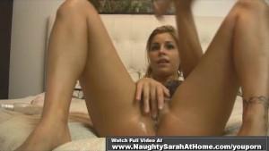 Blonde Sarah crave anal creamp