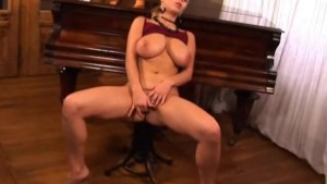BigBreasted Babe Playing with Her Pussy