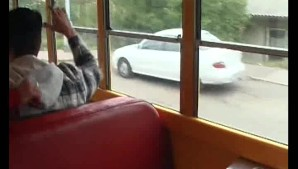 2 girls pick the wrong bus to get a ride with