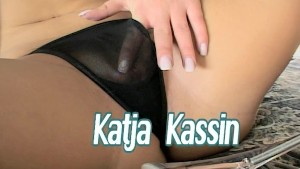 Katja wiggles her ass and fingers herself