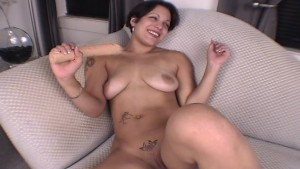 Hot Latina Jemma and her 18' dildo (Clip)