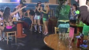 Horney Girls suck cock in a party