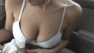 Blonde Gets Fucked in Backseat