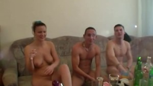 Nude party ends as orgy