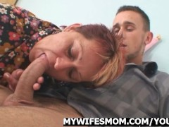 Cock-hungry mother in law seduces her...