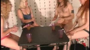 Strippoker cardgame with next door girls