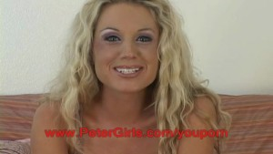 Amateur big boob blonde Tessa West 1st porn shoot