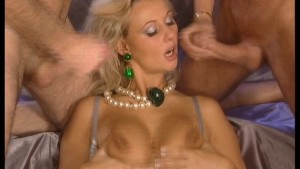 Hot Blonde Gets a Double Shot