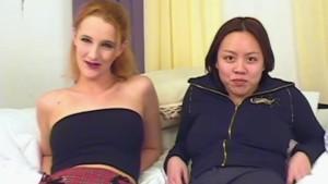 Interracial lesbian amateur fuck