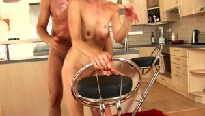 Short haired chick gets cummed on - CzechSuperStars
