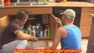MILF Housewife gets FUCKED by the PLUMBERS