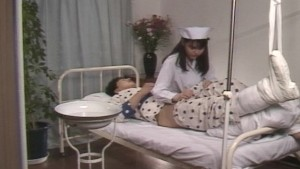 Asian nurse takes proper care